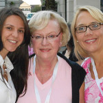 Ana Codrean, Andrea Sell and Sunia Piermont (all with Capri Contractors) At Breast Cancer Awareness Event at Baldwin Park